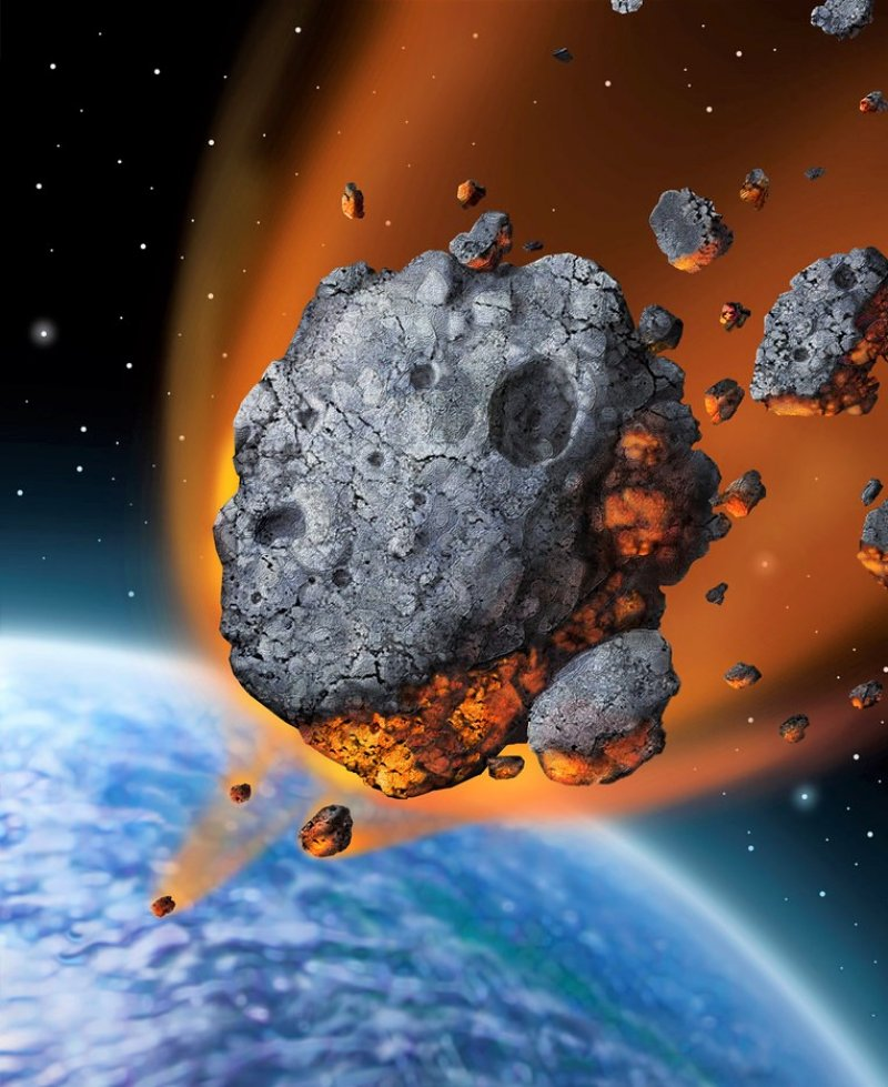 Illustrated depiction.Not a real meteor.