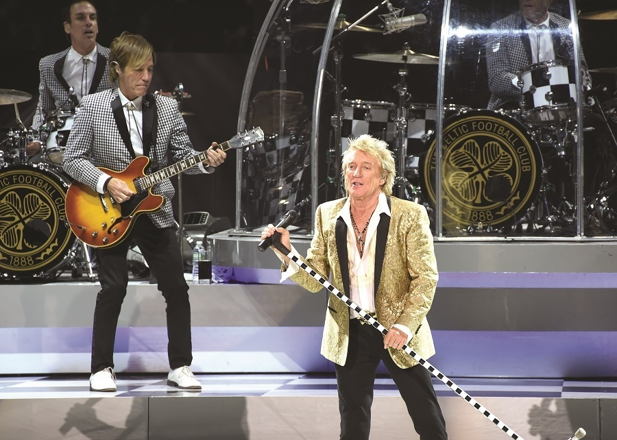 Rod Stewart, who shared the stage with Cyndi Lauper at SPAC, July 22, 2017.