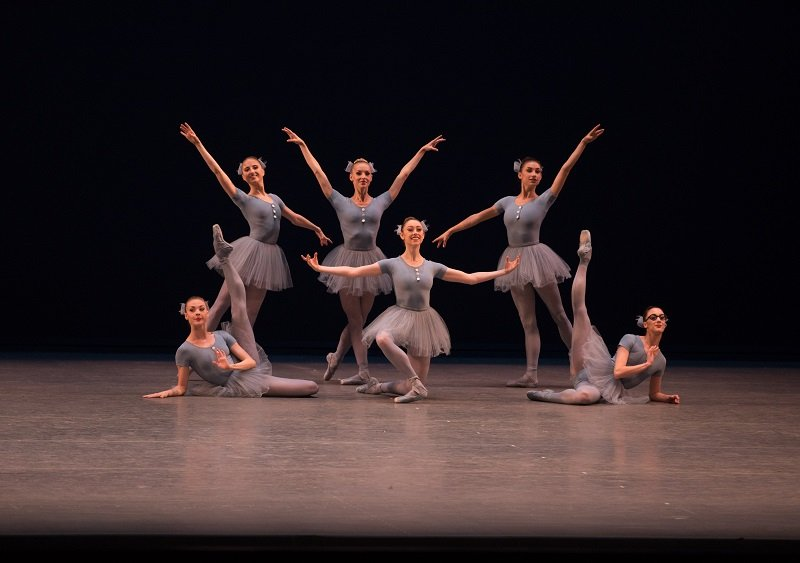 New York City Ballet dancers in Jerome Robbins' The Concert, part of the Short Stories grouping.