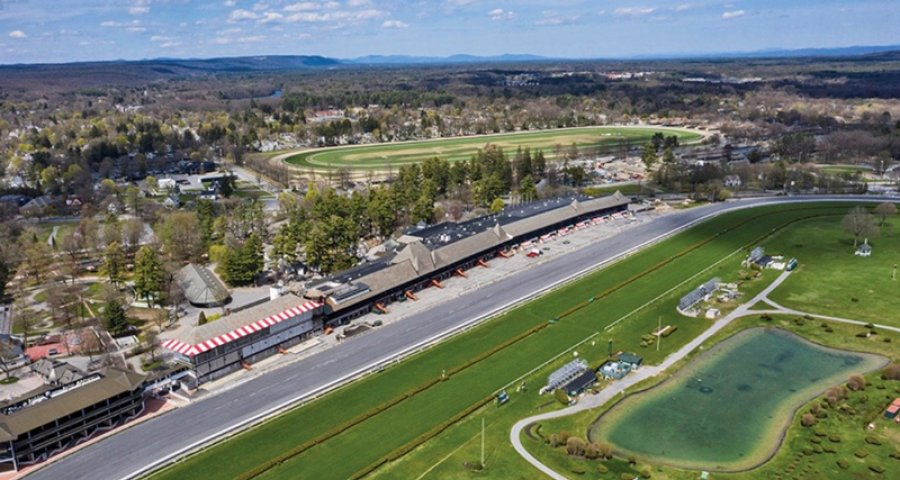 Saratoga Race Course from the air, 2020. Photo by SuperSource Media.