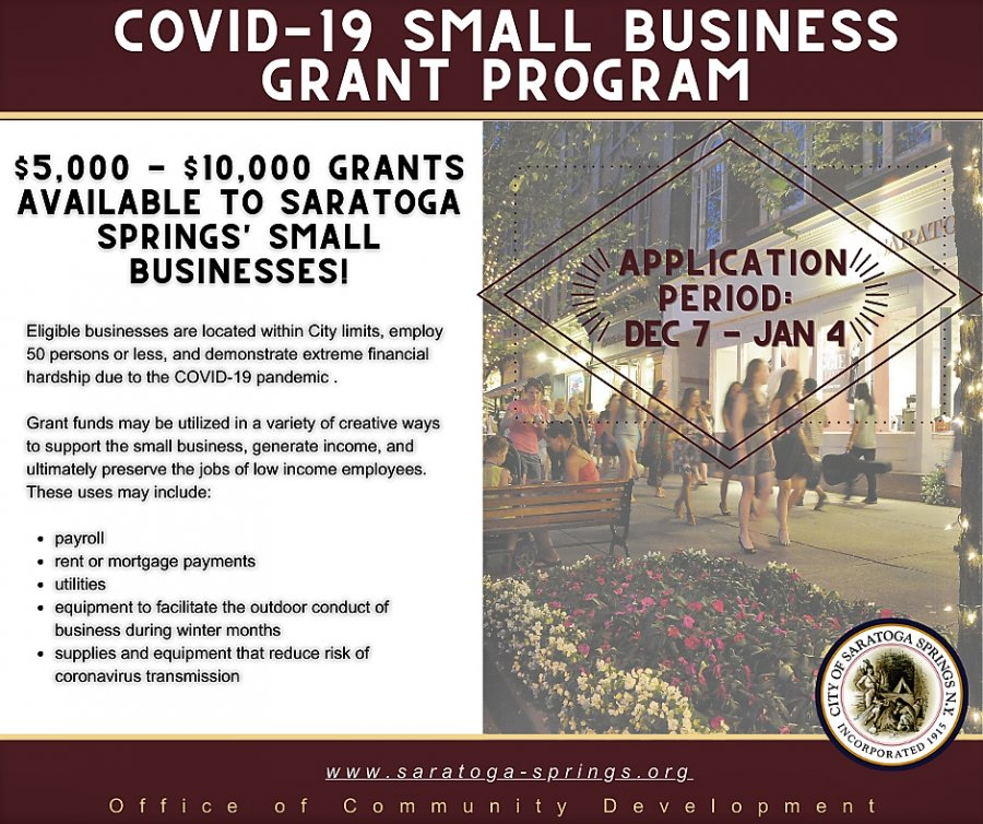 The city announced a COVID-19 Small Business Grant  Program Application period opens Dec. 7.