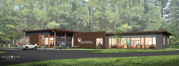 Wellspring plans for a new 8,000 square foot building on Route 9 in the Town of Malta. The professional team working on the project includes Balzer and Tuck Architecture, The L. A. Group Landscape Architecture & Engineering, and Bonacio Construction, Inc.  It is anticipated that the building will be completed in late 2021. Rendering provided.