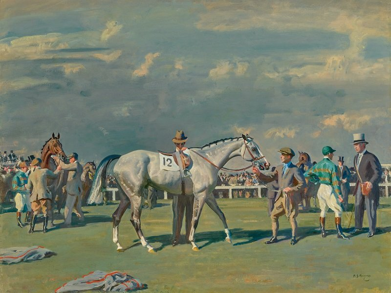 Mahmoud Being Saddled For The Derby, 1936, Sir Alfred Munnings - estimated in excess of $3.5 million – is one of two paintings from the collection of Marylou Whitney being auctioned by Sotheby's this month. Photo: courtesy of Sotheby's.