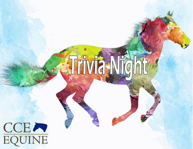 CCE Equine hosts its 2nd Virtual Horse Symposium in March,  as well as a family fun trivia night. Image provided.