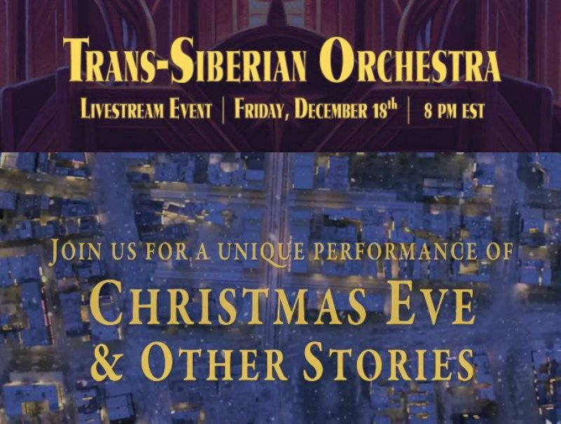 Trans-Siberian Orchestra Announces 'Christmas Eve And Other Stories Live In Concert'