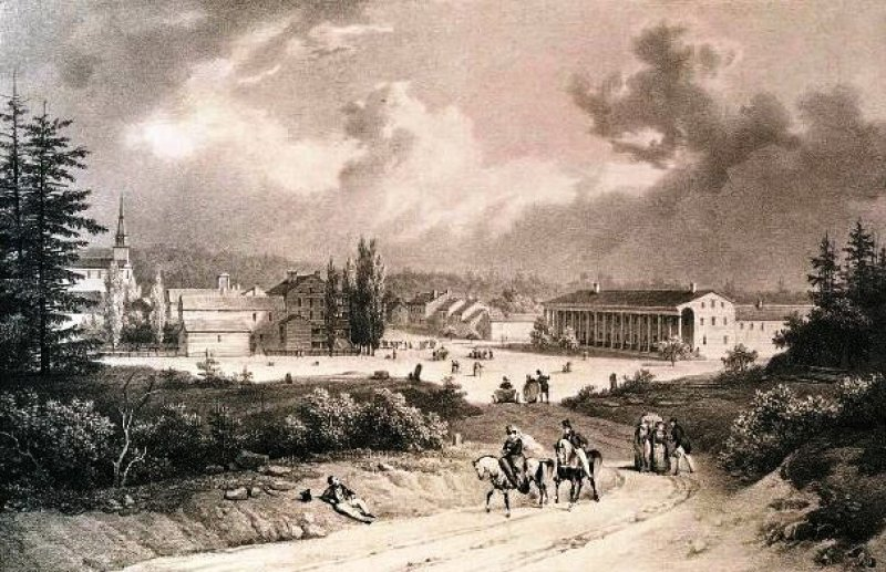Early Image of Saratoga Springs and Congress Hall. Image provided.