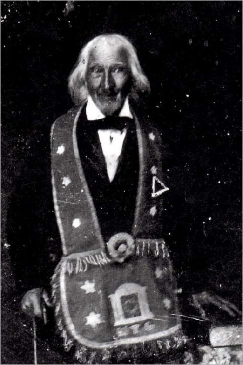 Daguerreotype  believed to be the image of Uriah Gregory  near the end of his life. Image provided.