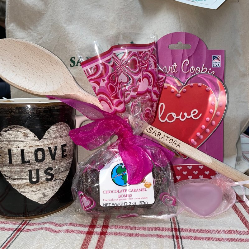 Saratoga Valentine's Porch Package. Photo provided by Impressions of Saratoga.