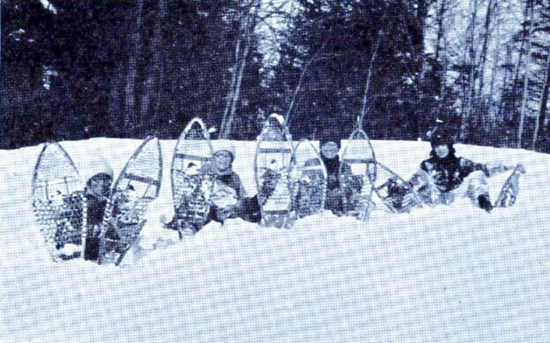 Snowshoeing at the Homestead. Image provided by The Saratoga County History Roundtable.
